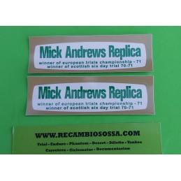 ADHESIVOS OSSA MICK ANDREWS...